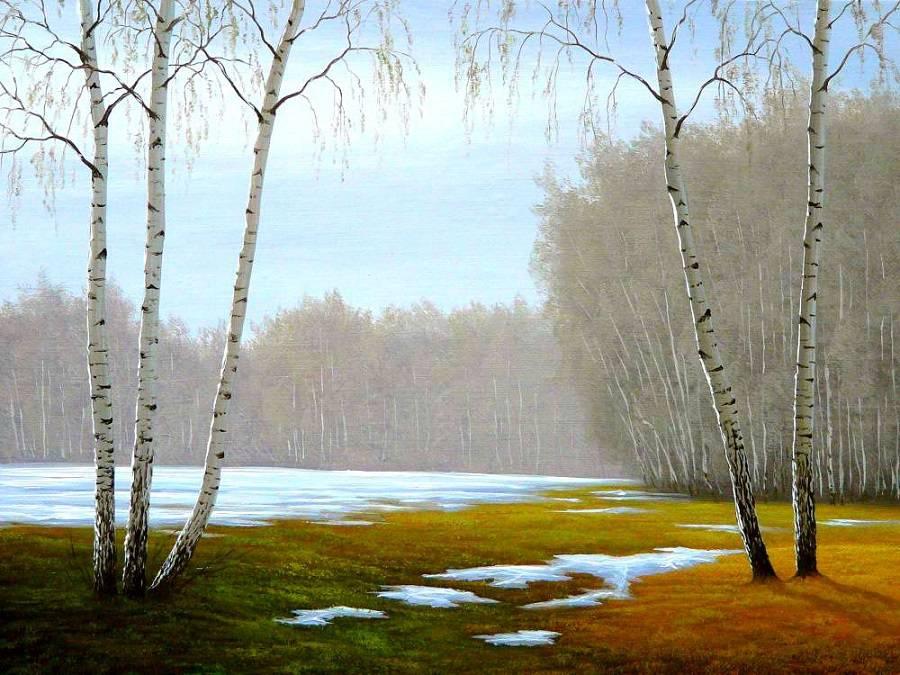 Русские пейзажи художника Сергея Алексеева