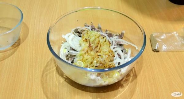 Салат из куриных желудков по-корейски Еда, Длиннопост, Вкусно
