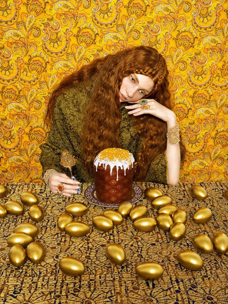 Дань фольклорным традициям: славянские красавицы в объективе модного фотографа