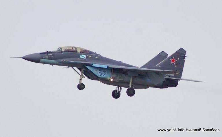 """Истребитель МиГ-29КР впервые совершил посадку на авианосец """"Адмирал Кузнецов"""""""