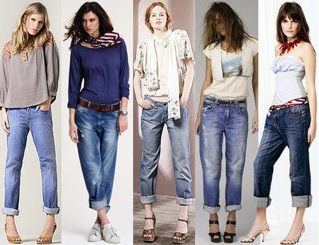 Как правильно носить женские классические прямые джинсы с высокой посадкой?