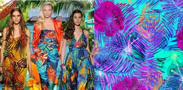Тропический принт в женской одежде, фото идеи образов даже если ты не в отпуске