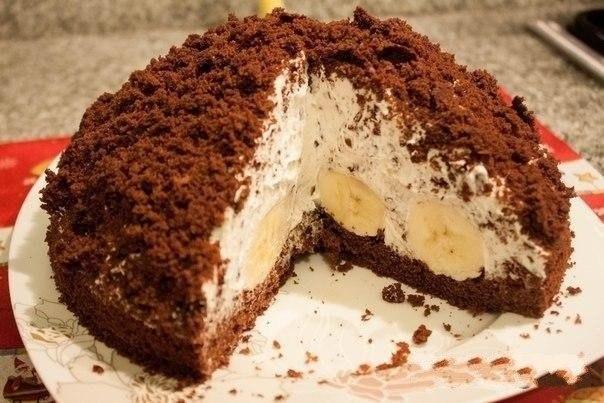 Для любителей бананов, очень вкусный торт, простой в приготовлении. Попробуйте приготовить