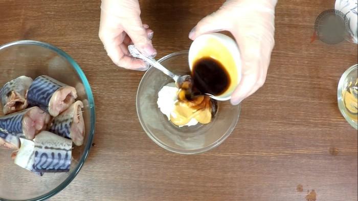Скумбрия, запеченная в горчично-соевом маринаде С дедом за обедом, Кулинария, Рецепт, Скумбрия, Вкусно, Видео, Длиннопост