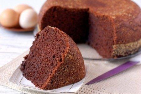 Влажный шоколадный бисквит рецепт с фото пошагово