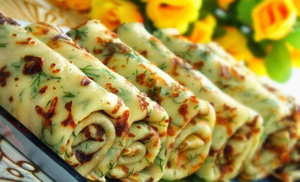 Вкуснейшие чесночно-сырные блины