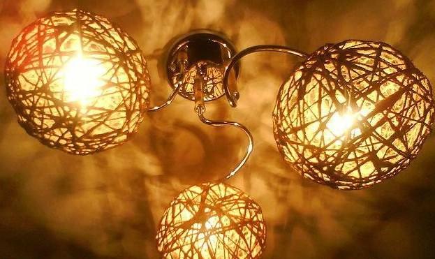 Как сделать шариками люстры