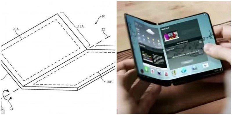 Apple запатентовала iPhone-трансформер, складывающийся пополам Apple iPhone, айфон, новости, патент, планшет, разработка, технологии, фото