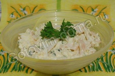 как приготовить салат из плавленого сыра