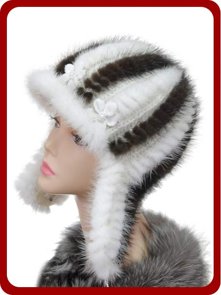 Вязаные шапочки с мехом своими руками