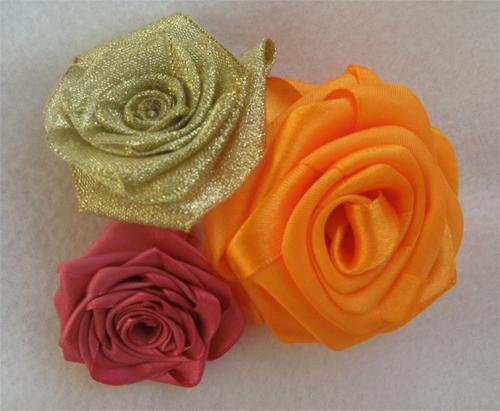 Роза из цельной ленты