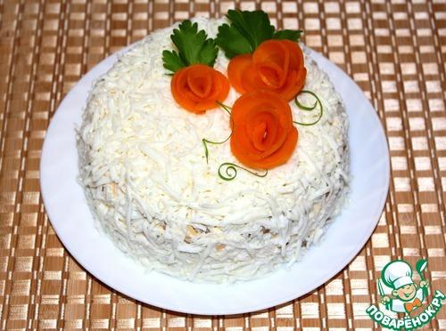 Торт-салат из печени