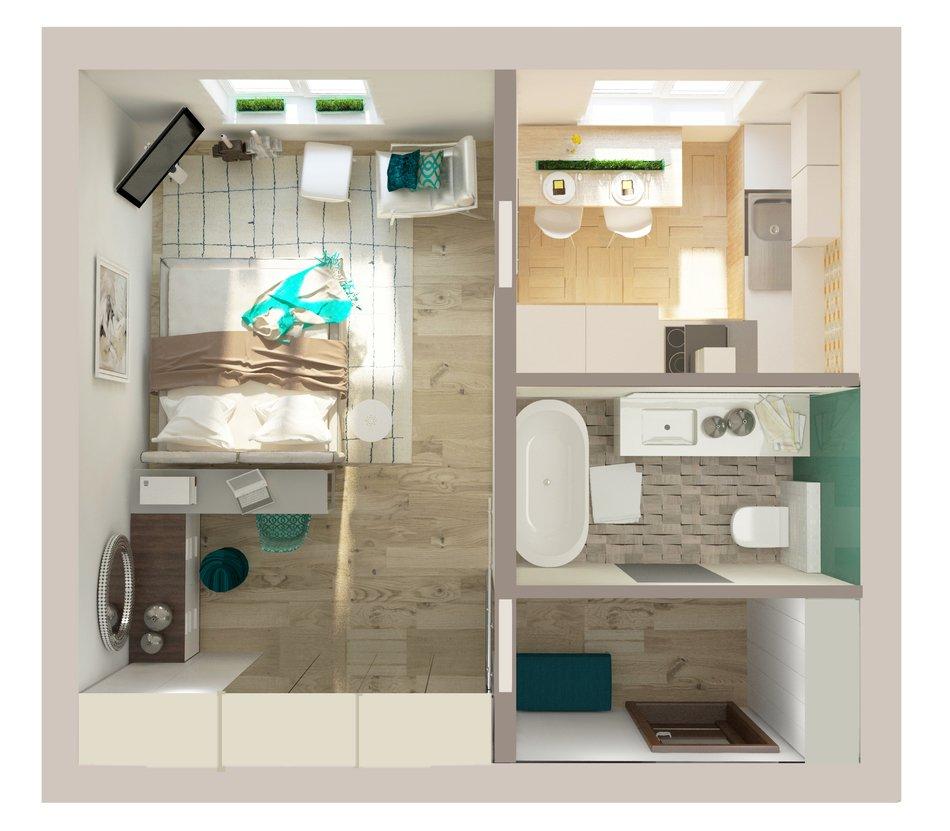 Дизайн однокомнатной квартиры ii-49