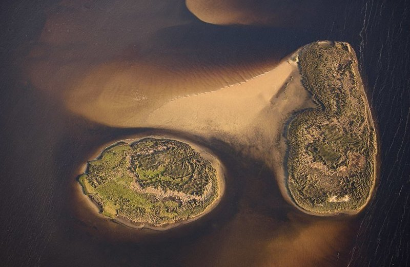 Островки штата Флорида америка, вид, высота, мир, пейзаж, природа, фотография
