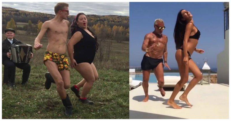 Наш ответ итальянскому миллионеру! «Боня и Кузьмич» сняли пародию на танцующего бизнесмена