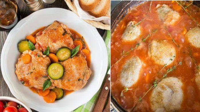 Ароматное рагу из курицы с морковью и цуккини — шикарный летний ужин!