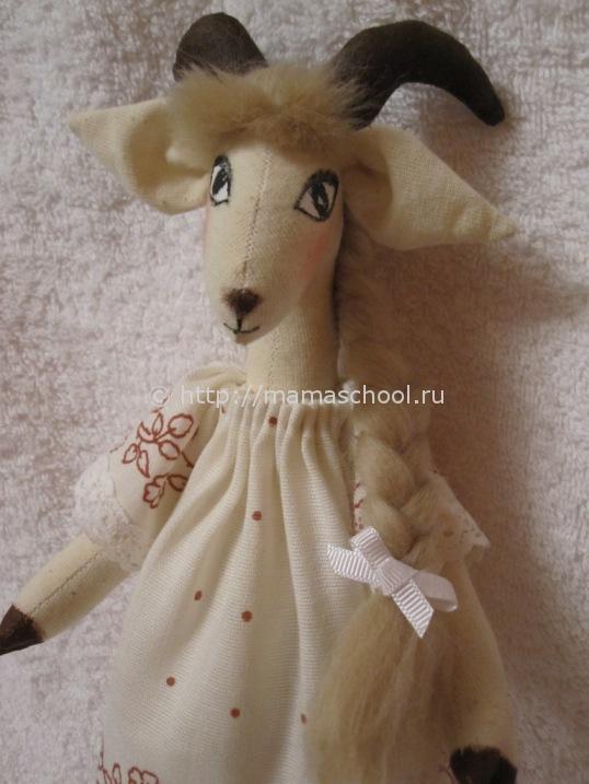 кукла козочка тильда в технике тильда