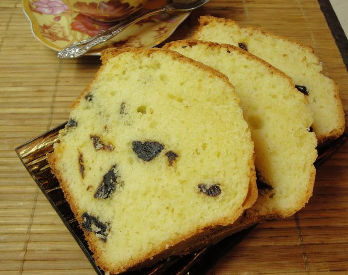 Восхитительный творожный кекс с черносливом