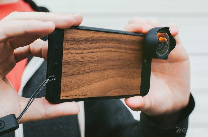 Чехол для iPhone со сменной оптикой