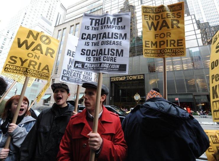 Митинги в США и Британии против агрессии Трампа