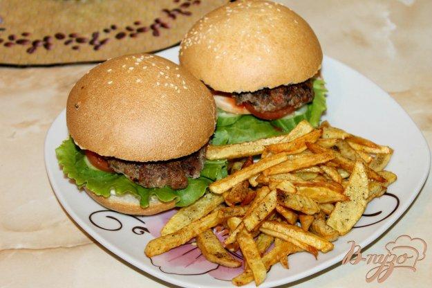 ЗАКУСОЧНЫЙ ДЕНЬ. Домашний гамбургер с котлетой и картошкой фри
