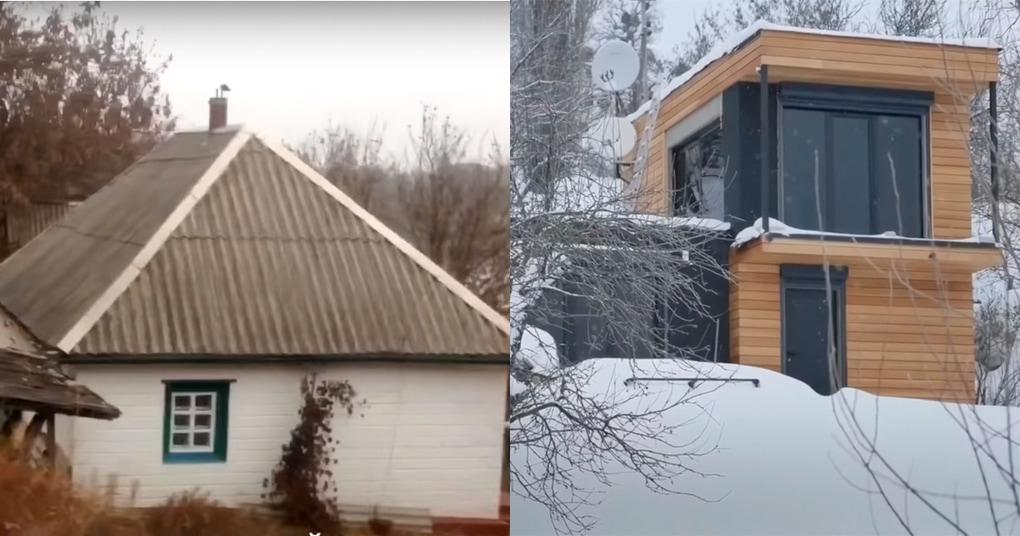 Трансформация 100-летнего сельского домик в настоящий лофт своими руками