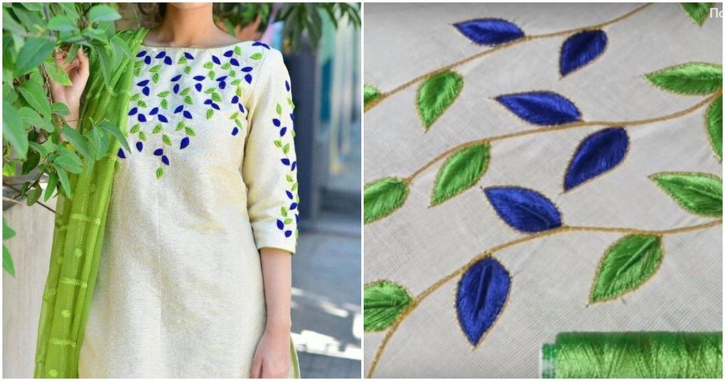 Простая техника красочной объёмной вышивки на одежде