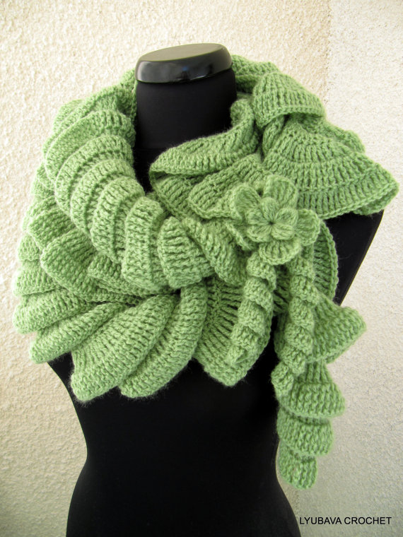 спиральный чудо шарф вязальный сундучок