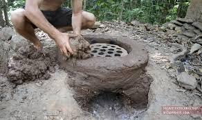 Термитная глиняная печь и керамика