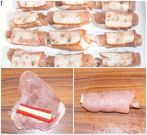 Мясной рулет с начинкой пошаговый рецепт