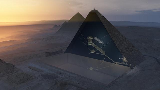 "Физики нашли ""тайную комнату"" в пирамиде Хеопса"