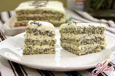 Кулинарная оригинальность: маковый торт
