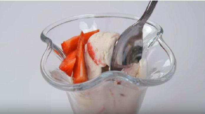 Самое вкусное мороженое с клубникой