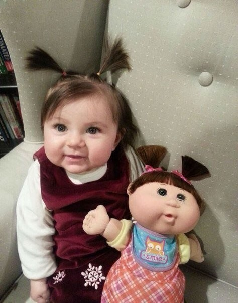 Мама сделала куклу. Как вам?