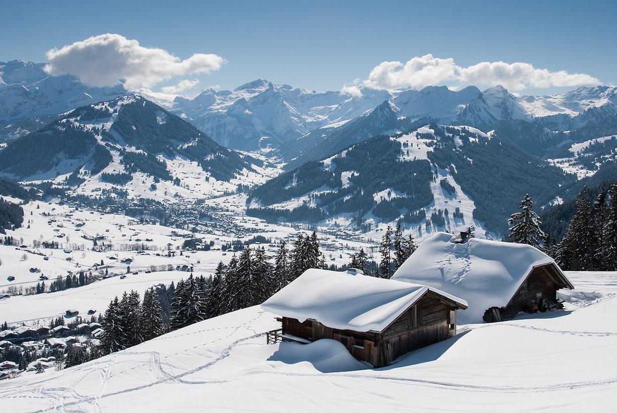 Обои на рабочий стол зимние альпы