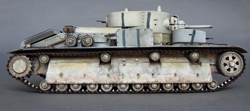 Советский средний танк Т-28 об. 1938 года с 76,2мм орудием Л-10