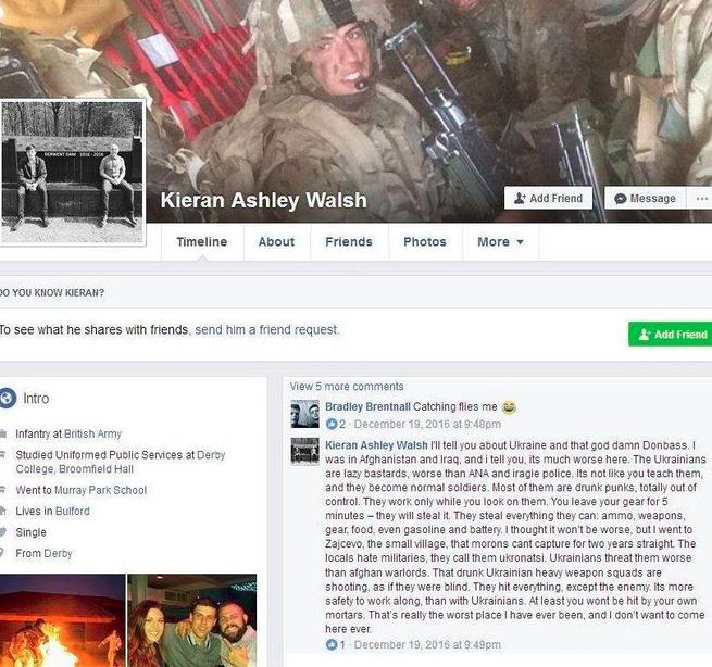 """Британский наёмник о своей """"командировке"""" в Украину : """"Украинские солдаты - ленивые ублюдки!.."""""""