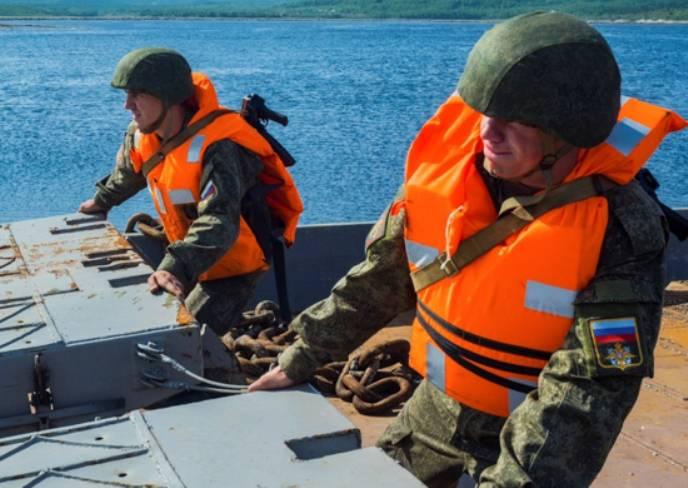 Инженеры СФ развернули причал в условиях, приближенных к арктическим