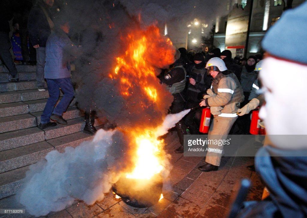 Как Киев отметил годовщину Евромайдана (фото).