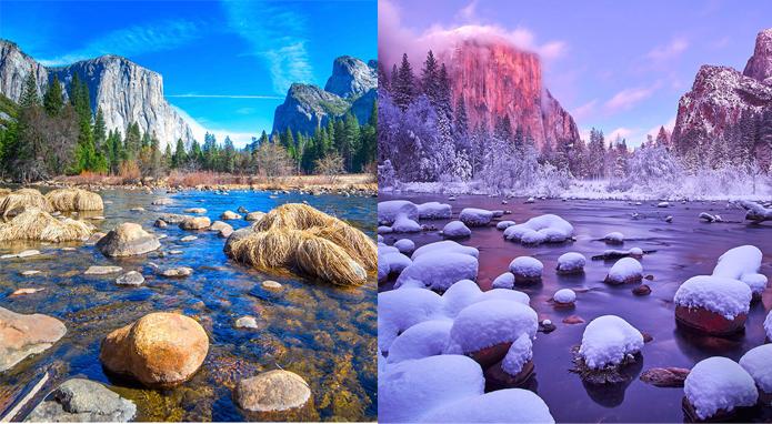 Как выглядят разные уголки нашей планеты зимой и в любое другое время года
