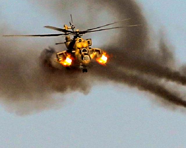 СМИ: убойная «карусель» от русских Ми-35 в Сирии попала на видео