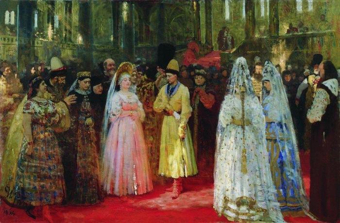Выбор царской (великокняжеской) невесты. Репин И.Е., 1884-1887.