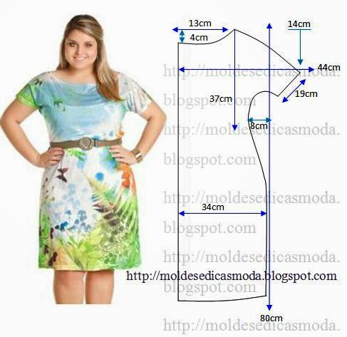 Платье для полных своими руками с выкройками для начинающих