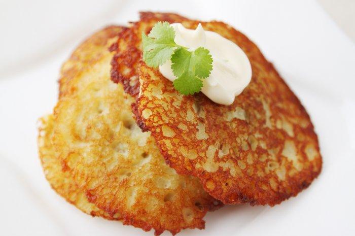 Картофельно-твороженые драники