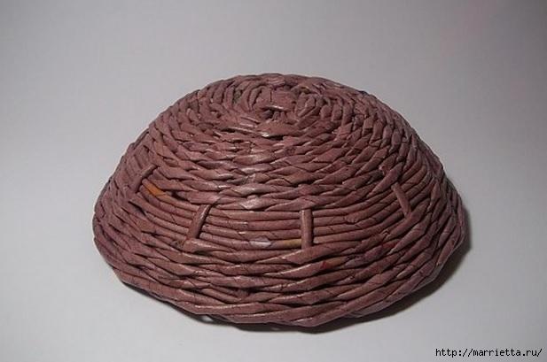 Плетение из газет. Идеи и мастер-класс на донышко плетенки (2) (617x409, 122Kb)