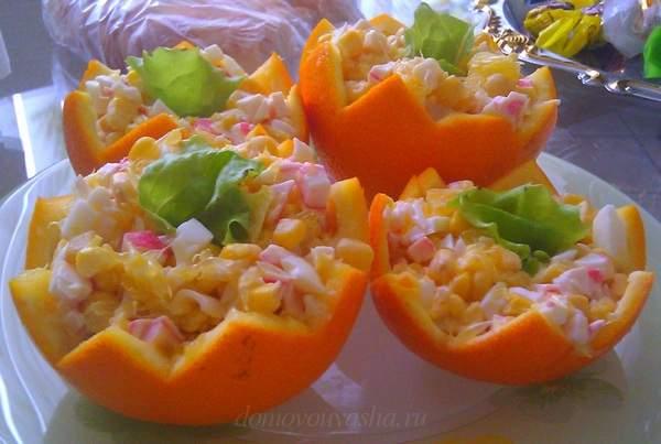 Салат с апельсином. 10 пошаг…