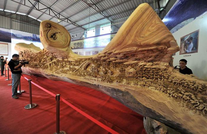 9 впечатляющих деревянных скульптур, сделанных из цельных стволов деревьев