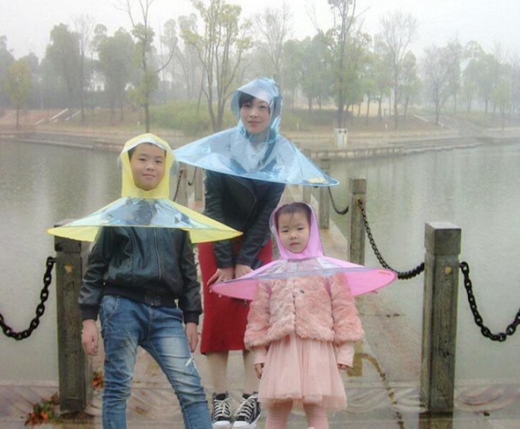 Китайские дизайнеры придумали дождевую шляпу