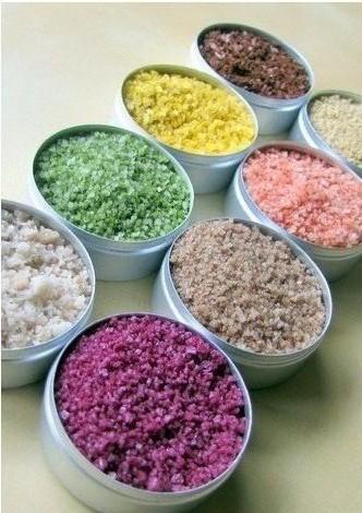 Как сделать цветную соль для декорирования 1