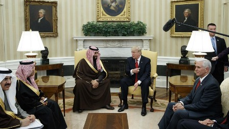 Встречу президента Трампа и принца Мухаммеда назвали «поворотной точкой»